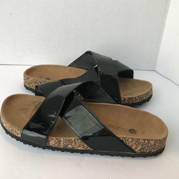 7be1294c88e1e3 NEW CHATTIES 7 8 comfort sandals black cross